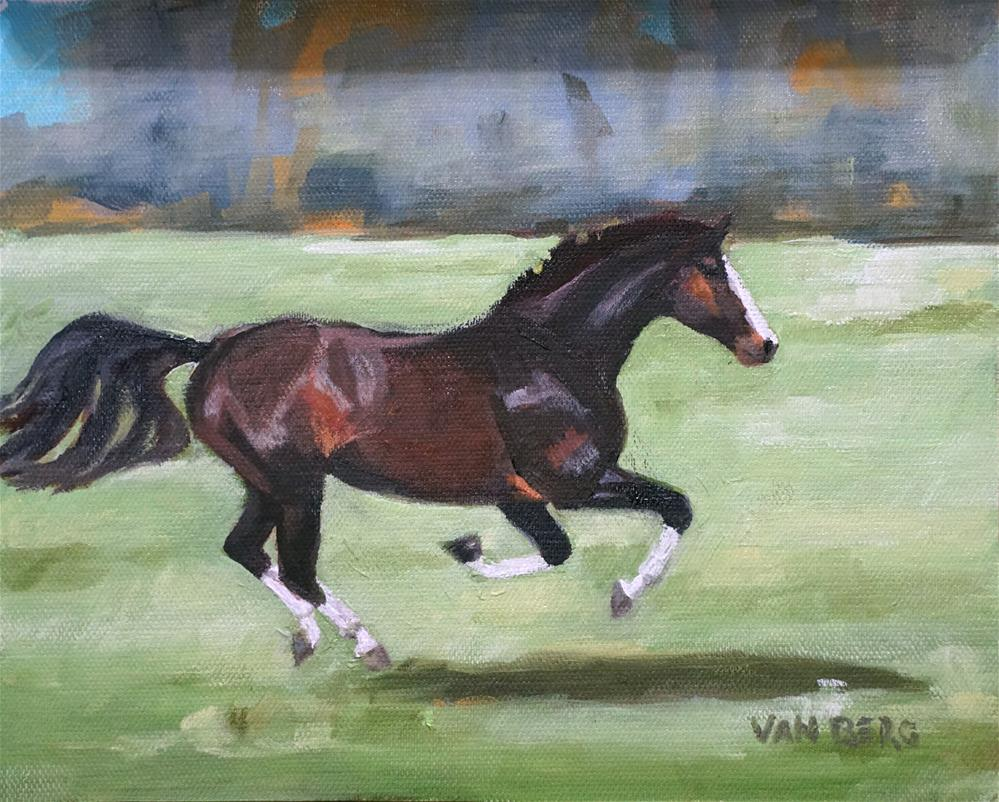 """All Four Off"" original fine art by Catherine Van Berg"