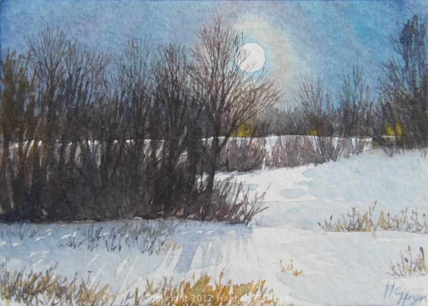 """Tiny Original Painting - ACEO"" original fine art by Hannah C. Heyer"