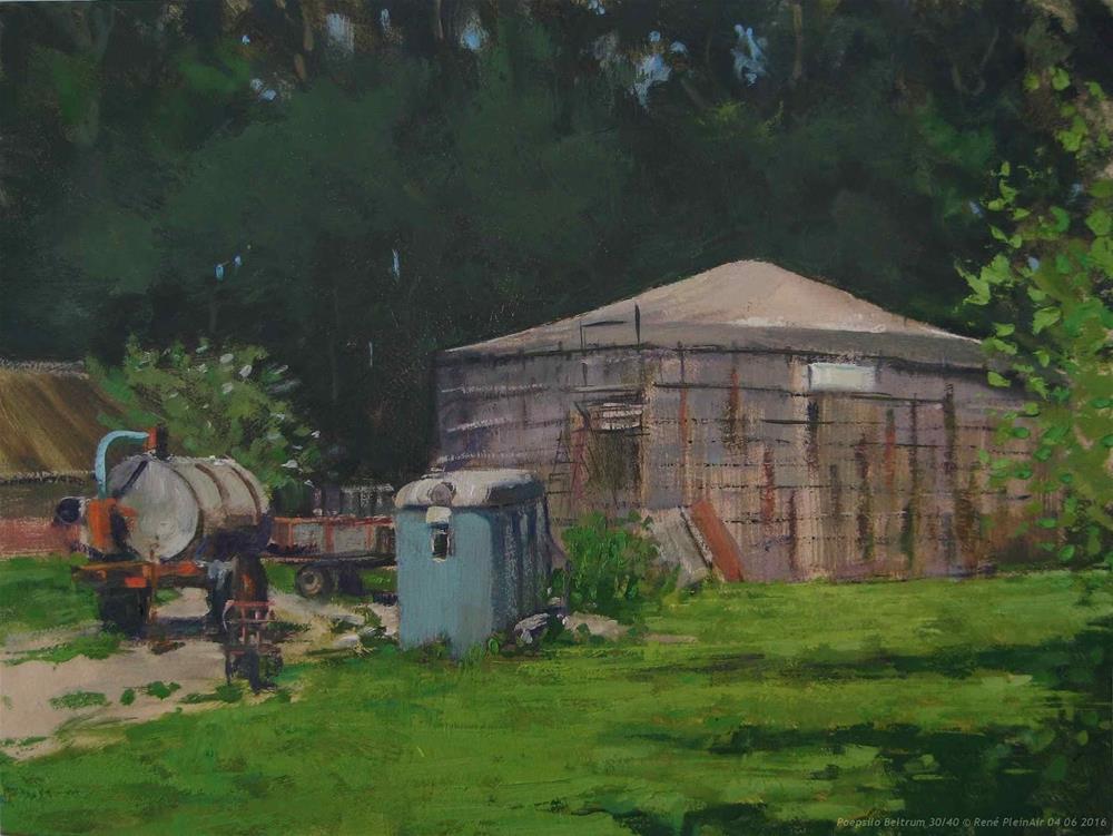 """Poepsilo Beltrum The Netherlands"" original fine art by René PleinAir"