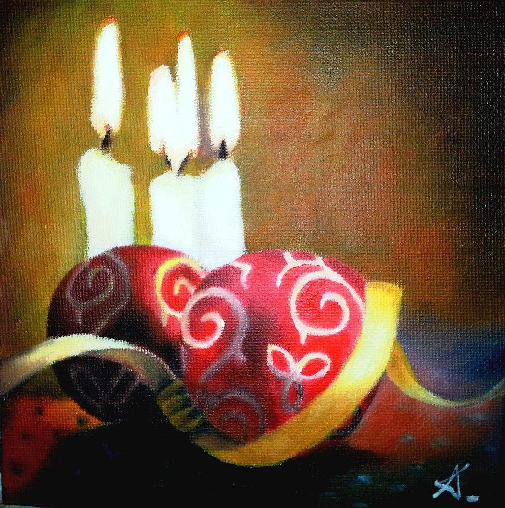 """christmas light"" original fine art by Konstantia Karletsa"