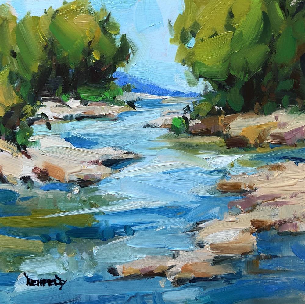 """Mountain Stream"" original fine art by Cathleen Rehfeld"