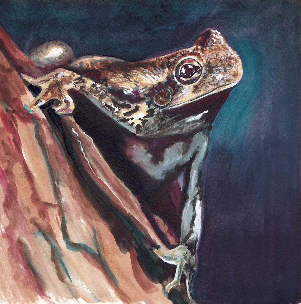 """Frog"" original fine art by Bunny Griffeth"