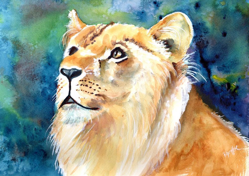"""Lioness"" original fine art by Bunny Griffeth"