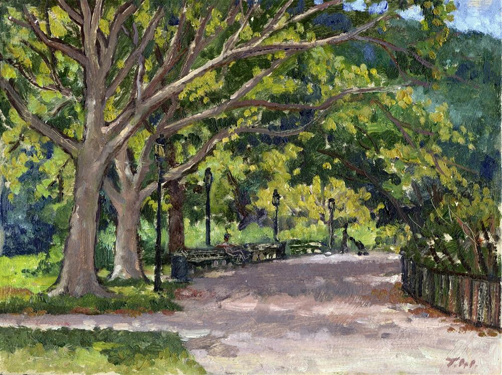 """By the Water, Inwood Hill Park"" original fine art by Thor Wickstrom"