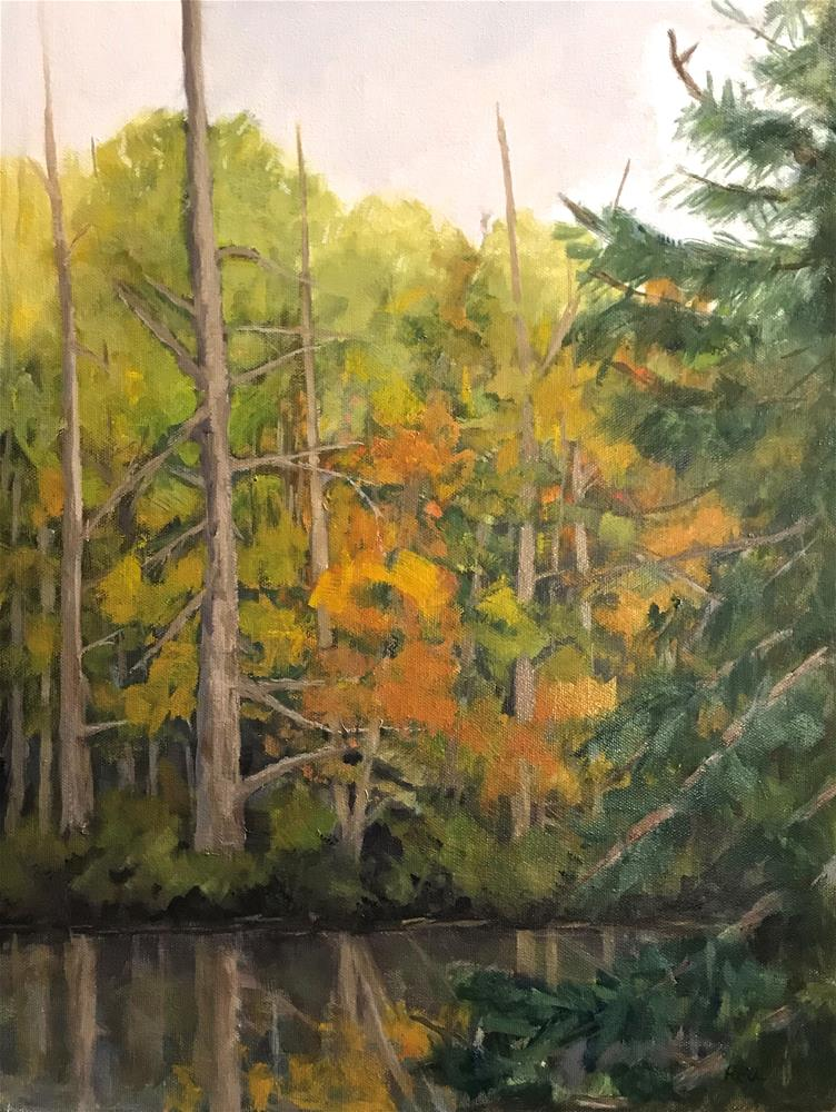 """autumn reflections"" original fine art by Betty Argiros"
