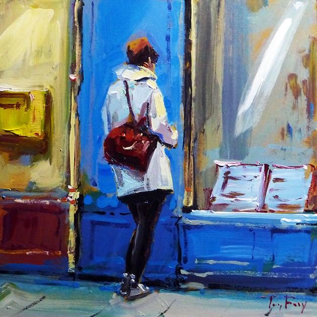 """Shopping"" original fine art by Jurij Frey"