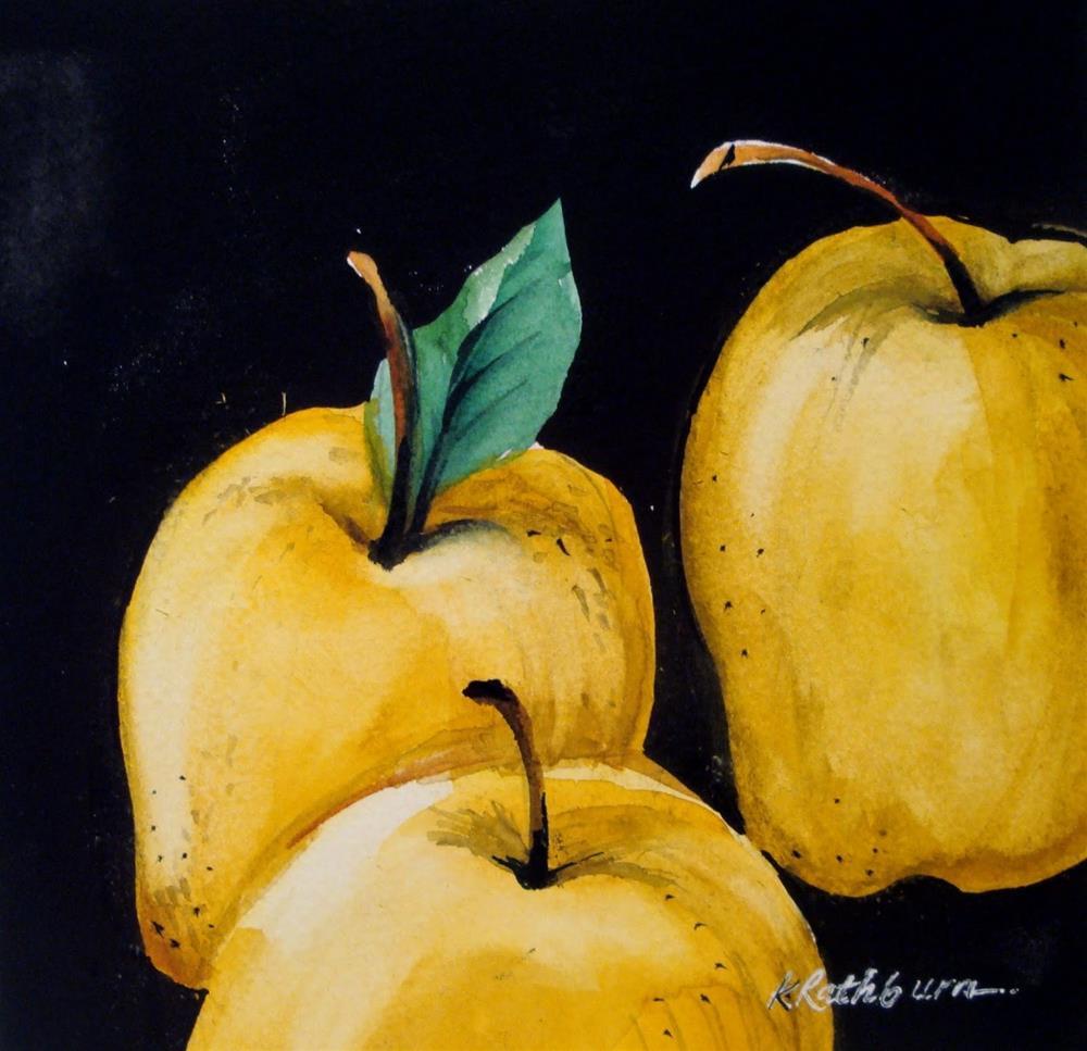 """""""Golden Delicious"""" original fine art by Kathy Los-Rathburn"""