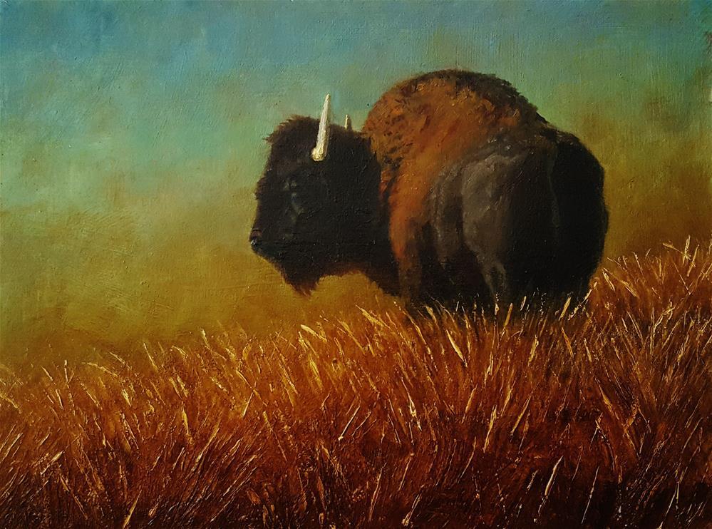 """""""King of the Hill"""" original fine art by Dustin Klassen"""