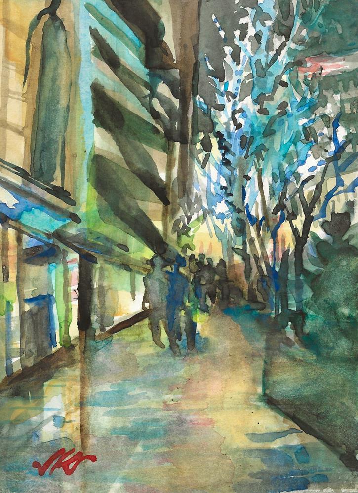 """Chicago"" original fine art by Jean Krueger"