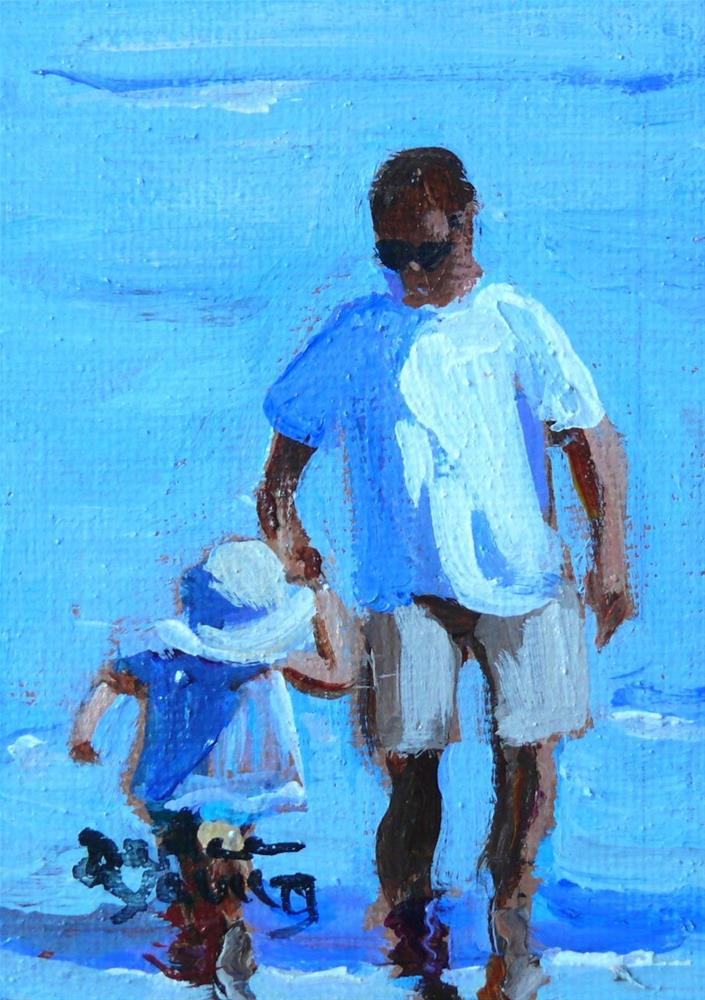 """""""863 Supporting Hand 3, oil on board 2.5x3.5"""" original fine art by Darlene Young"""