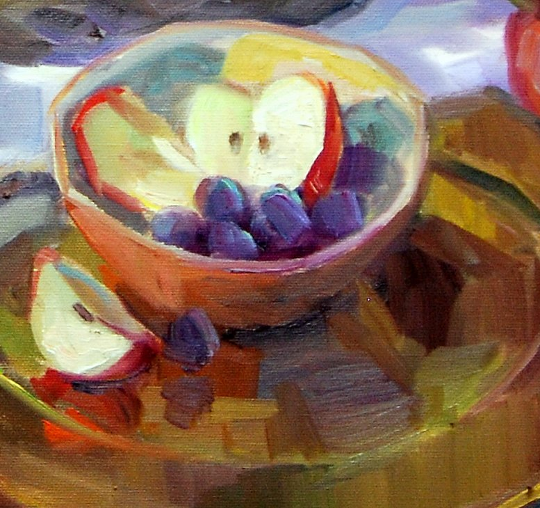 """An Apple A Day Keeps the Doctor Away"" original fine art by Julie Ford Oliver"