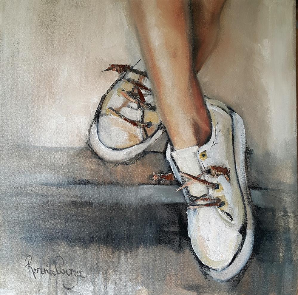 """""""Taking a break"""" original fine art by Rentia Coetzee"""