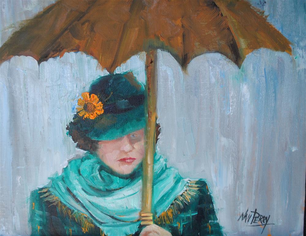 """Rainy Blues "" original fine art by Nan Perry"