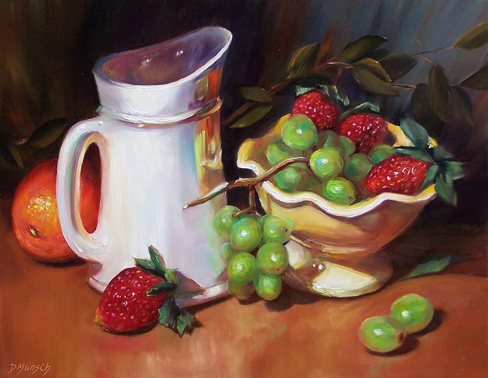 """""""Fruit Overflow"""" original fine art by Donna Munsch"""