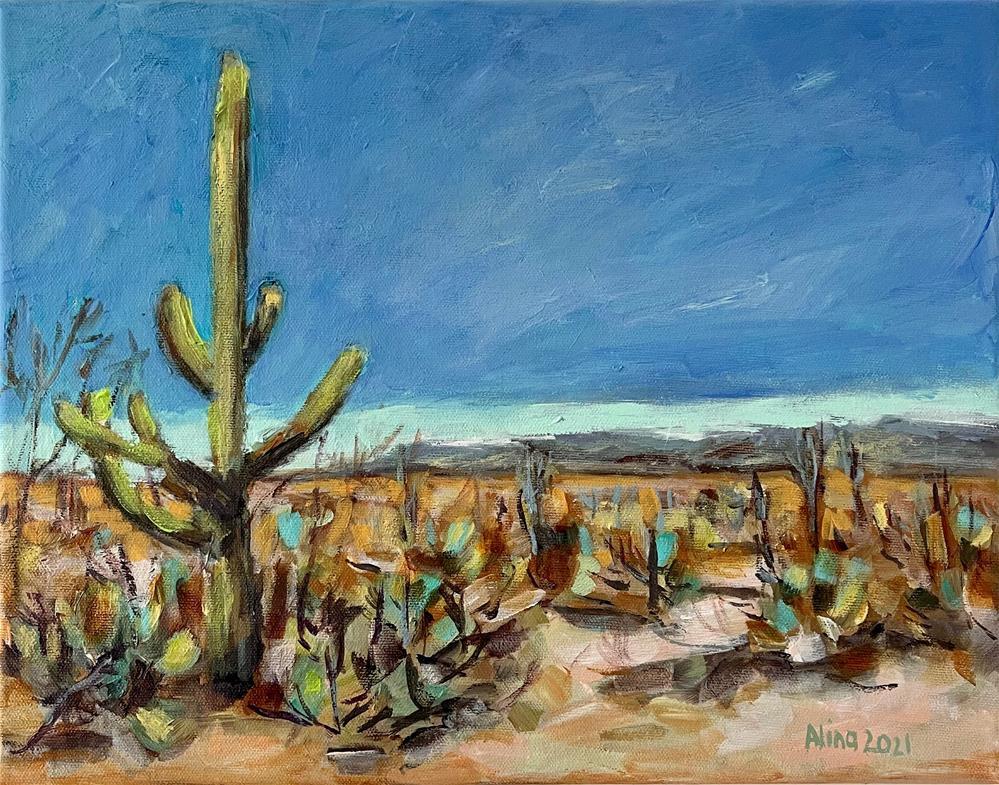 """""""Saguaro"""" original fine art by Alina Vidulescu"""