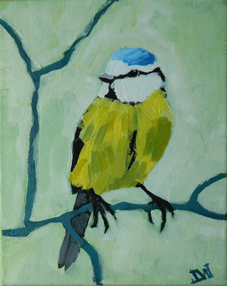 """Blue-tit"" original fine art by Daryl West"