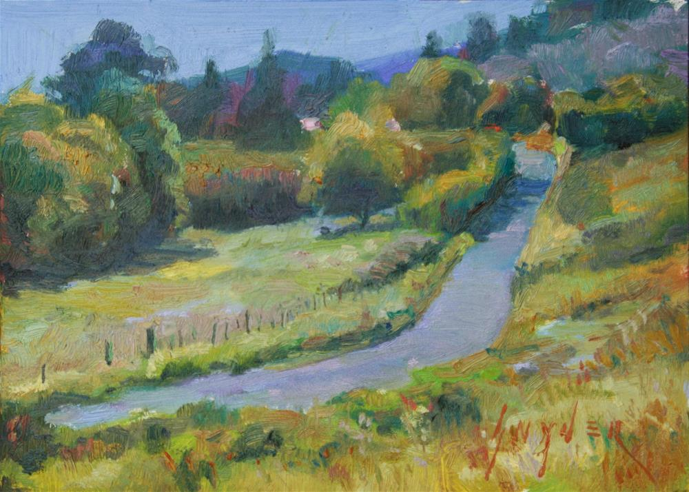 """Vineyard Road"" original fine art by Julie Snyder"