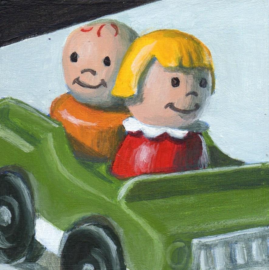 """Drive"" original fine art by Debbie Shirley"