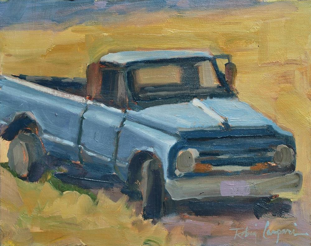 """""""Blue Truck"""" original fine art by Robin Caspari"""