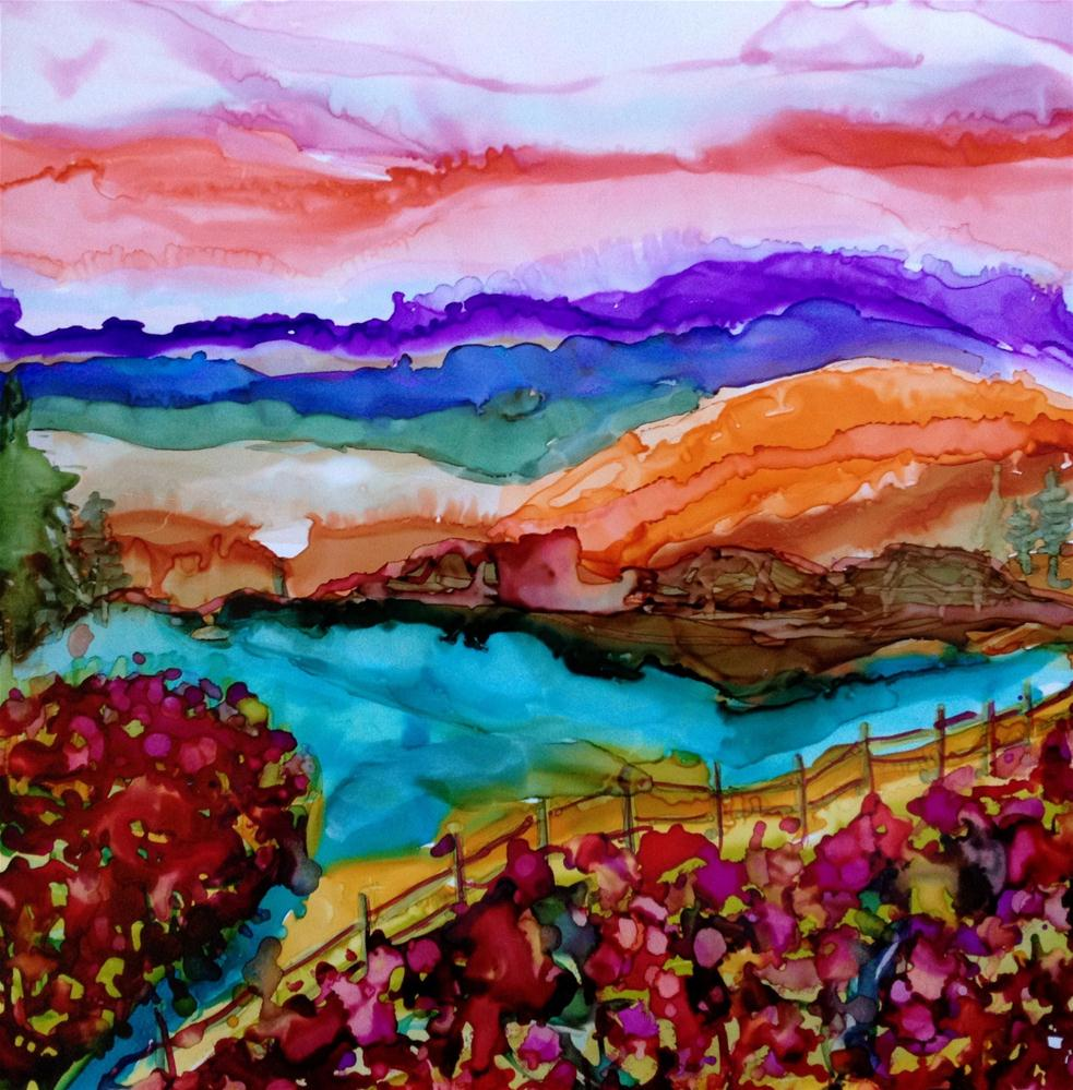 """Poppy Vista"" original fine art by Kristen Dukat"