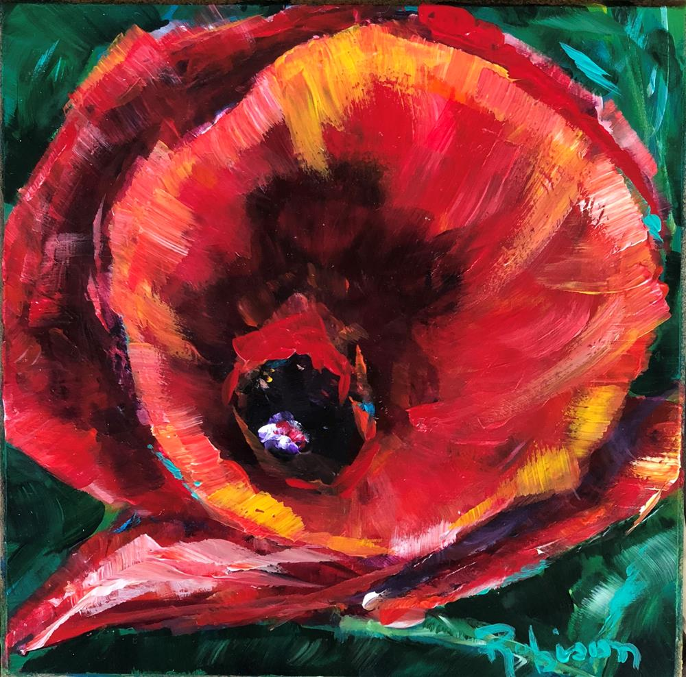 """Poppy Love"" original fine art by Renee Robison"