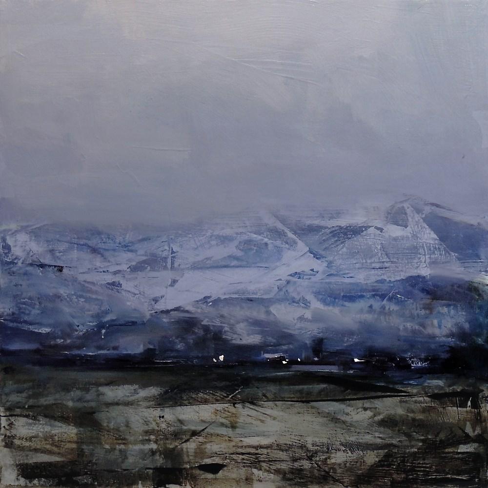"""Life Under the Mountains"" original fine art by Tibor Nagy"