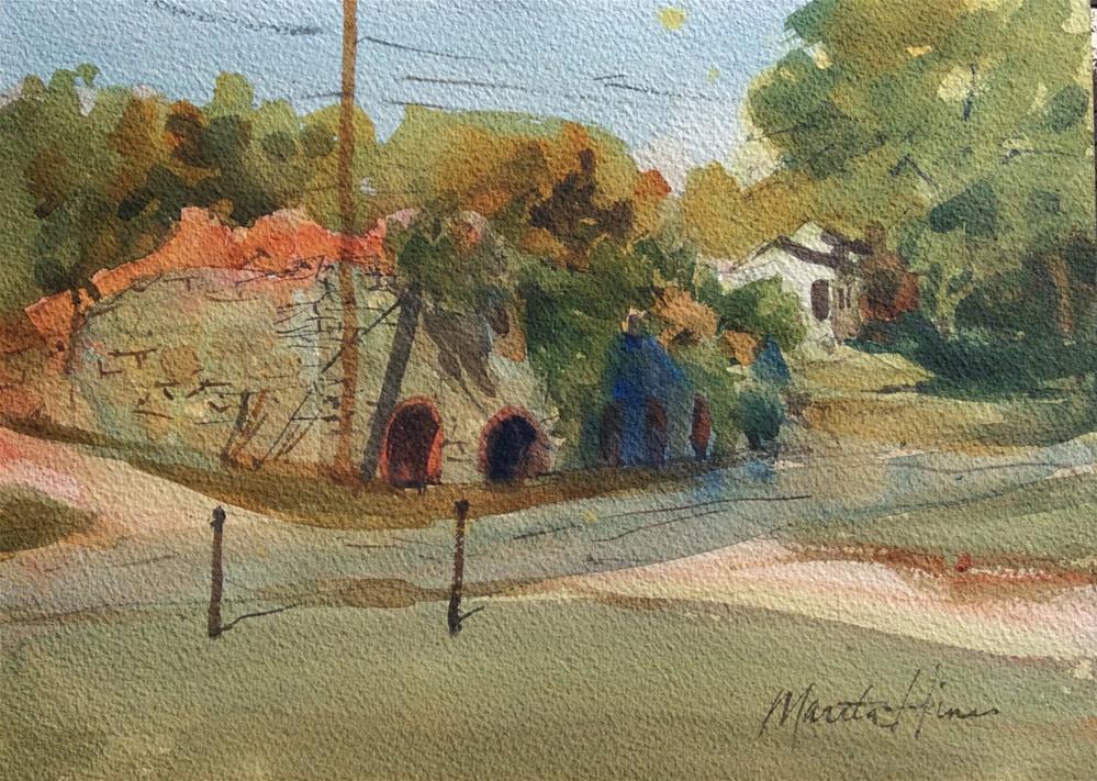"""Wrightsville Lime Kiln"" original fine art by Marita Hines"