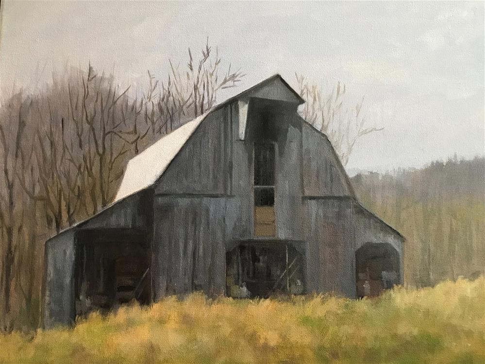 """The old storage barn"" original fine art by Betty Argiros"