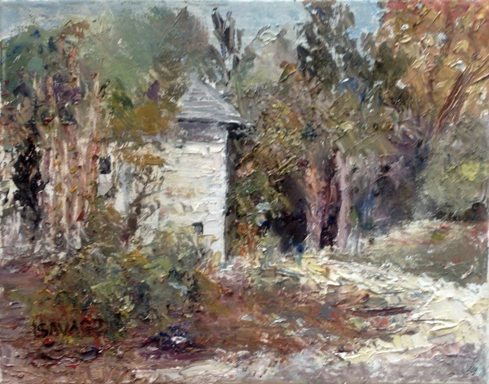 """The White House at Koreshan State Park"" original fine art by Judy Usavage"