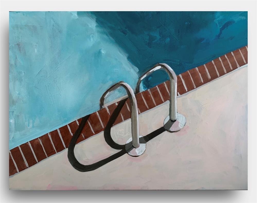 """""""817 Poolside"""" original fine art by Jenny Doh"""