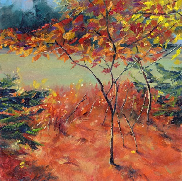 """Just a Little Fall"" original fine art by Brenda Ferguson"