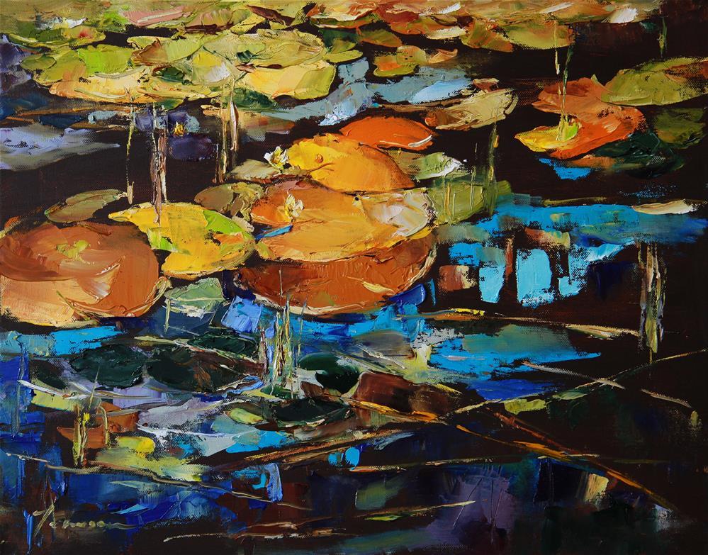 """A pond"" original fine art by Teresa Yoo"