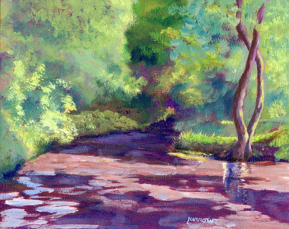 """Into the Creepy Lagoon"" original fine art by Sue Furrow"