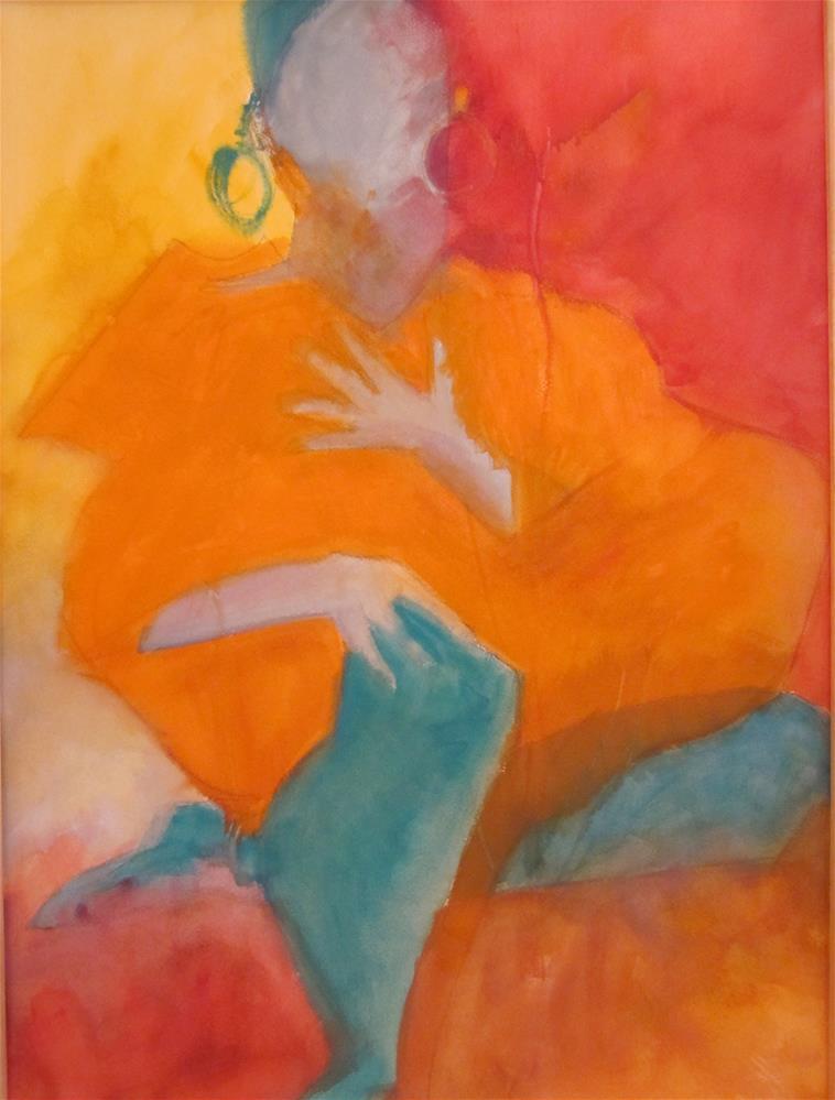 """""""Gypsy, AKA The Earring"""" original fine art by Carol Wiley"""
