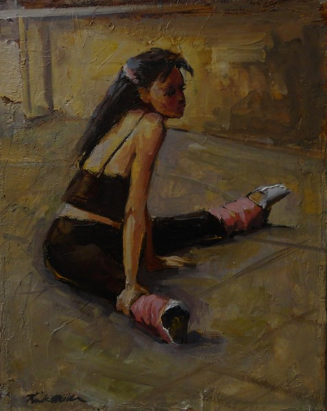 """Take Five"" original fine art by Kirk Miller"
