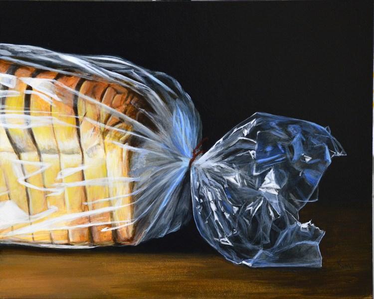 """""""Dramatic Loaf of Bread"""" original fine art by Kim Testone"""
