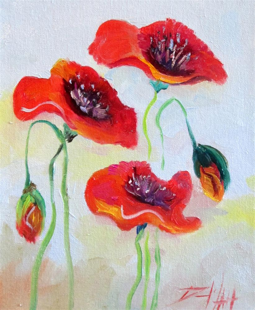 """""""Dancing Poppies"""" original fine art by Delilah Smith"""
