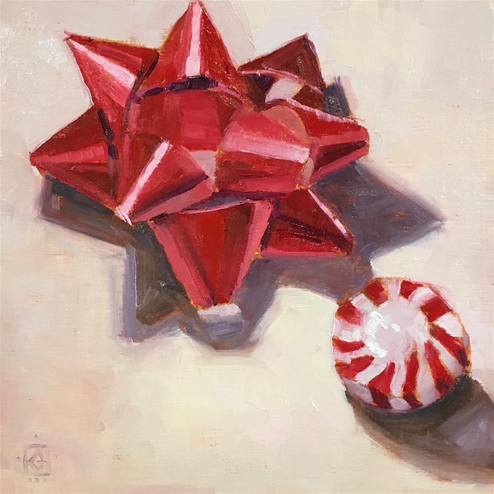 """Bow and Mint"" original fine art by Carol Granger"