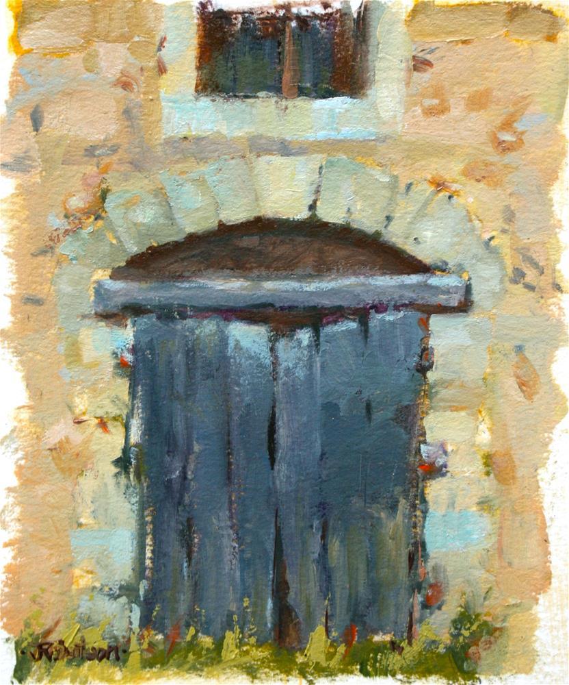 """""""Provence - Old Door"""" original fine art by Jane Robertson"""