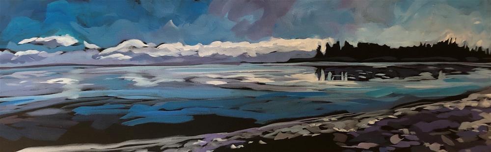 """Winter Island View"" original fine art by Kat Corrigan"