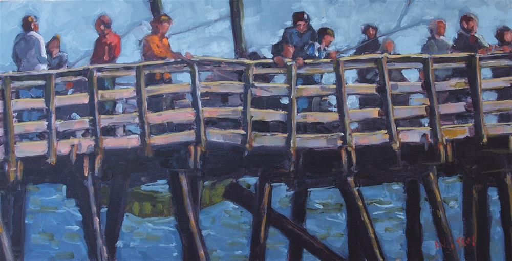"""Fishing Avalon"" original fine art by Rick Nilson"