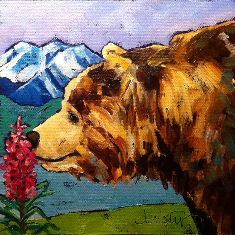 """""""STOP AND SMELL THE FIREWEED"""" original fine art by Kristy Tracy"""