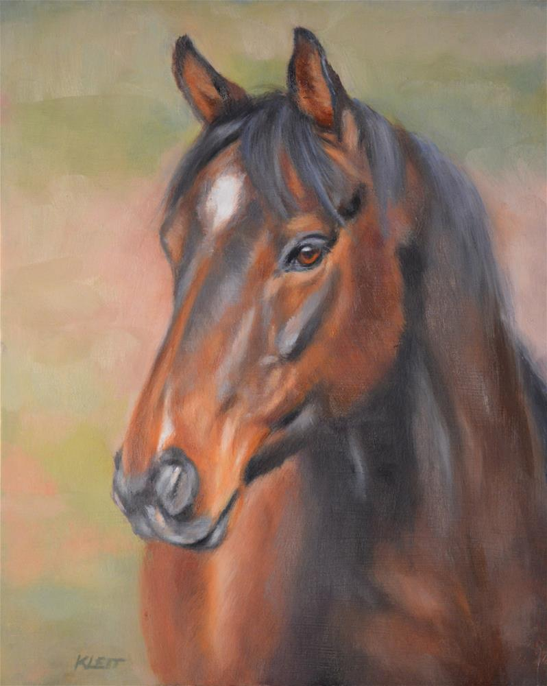 """Friendly Horse"" original fine art by Tracy Klett"