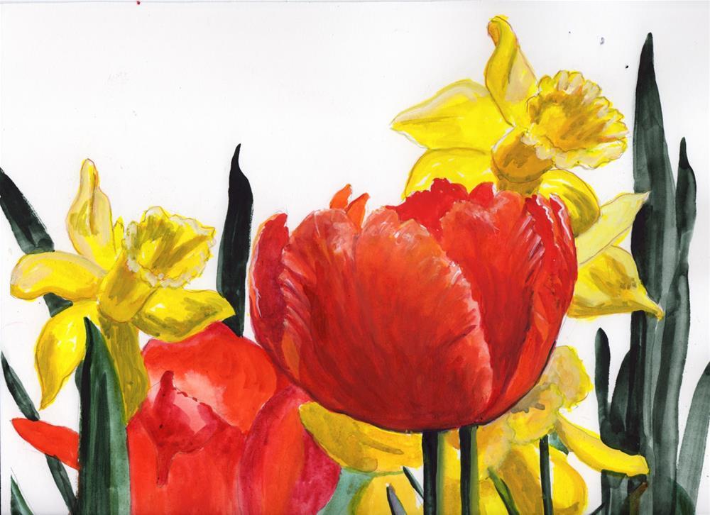 """Tulips"" original fine art by Bunny Griffeth"