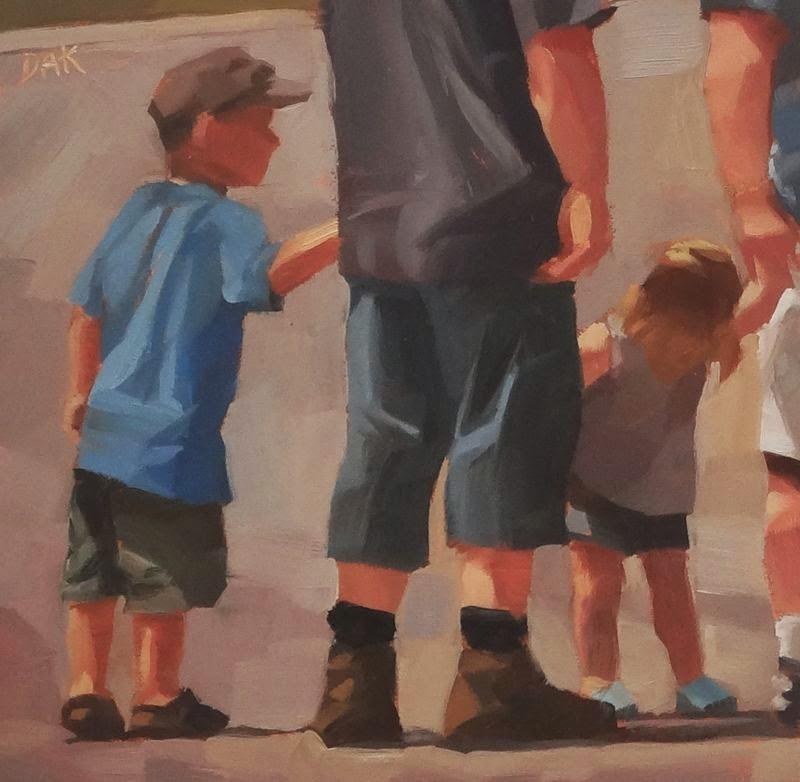 """Hangin With Dad"" original fine art by Deborah Ann Kirkeeide"