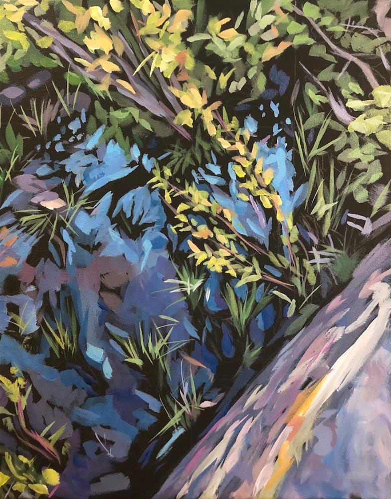 """Down the Bay"" original fine art by Kat Corrigan"