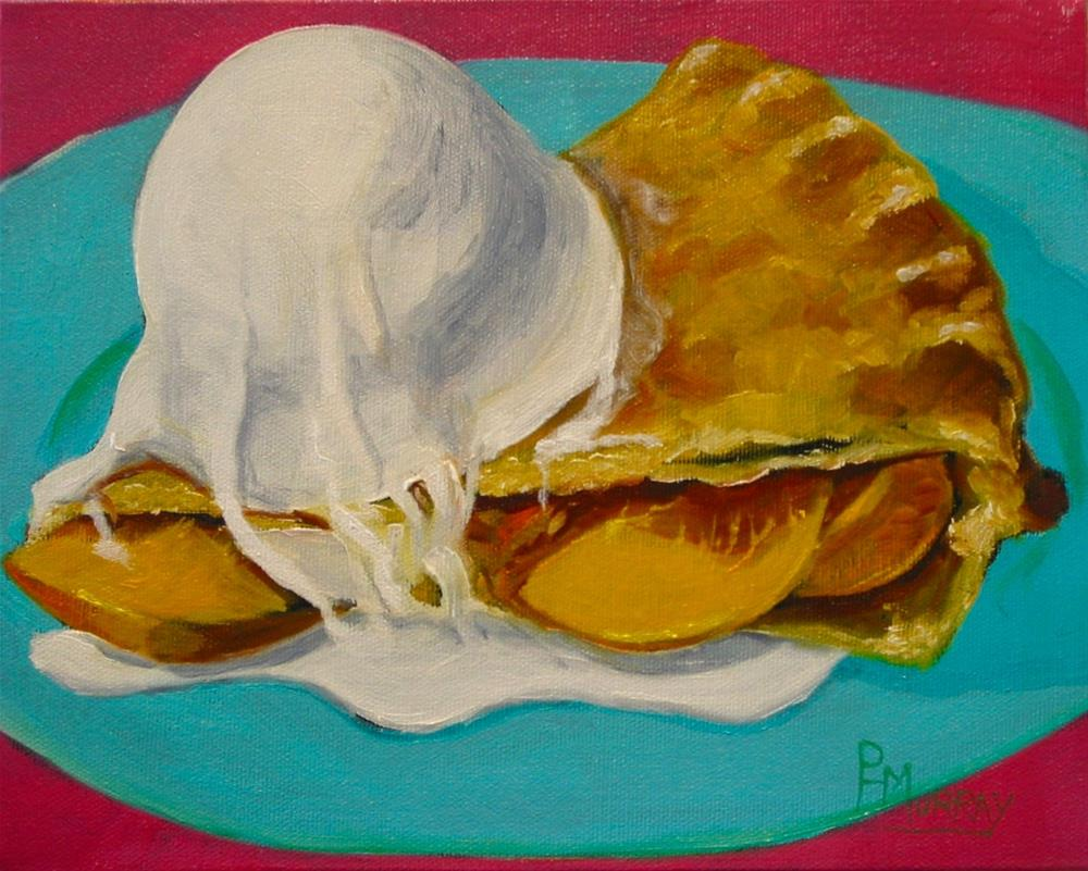 """Peachy Pie"" original fine art by Patricia Murray"