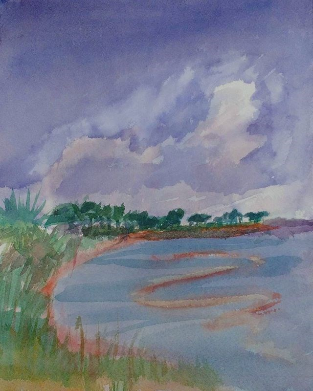 """Bay Afternoon"" original fine art by Maria Peagler"