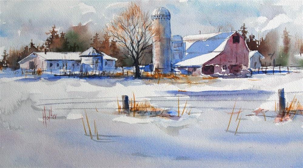 """""""Slow Down for Winter"""" original fine art by Michael Holter NWS"""
