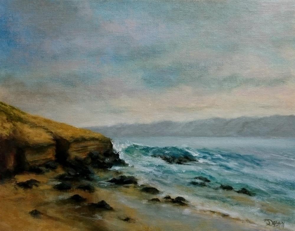 """Colorful Cliffs At LaJolla"" original fine art by Dalan Wells"
